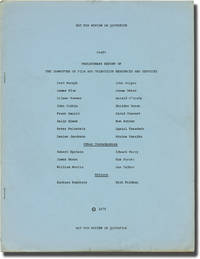 image of Preliminary Report of the Committee on Film and Television Resources and Services (First Edition)