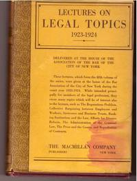 Lectures on Legal Topics 1923-1924