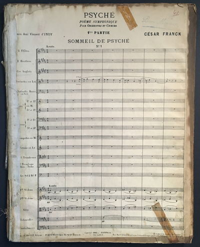 Paris: Le Bailly, O. Bornemann, succr., 1900. Used; Like New/Used; Like New. Orchestral score to Cé...