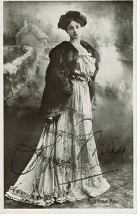 image of PHOTO POSTCARD OF GAIETY GIRL OLIVE MAY WHO TWICE MARRIED INTO THE BRITISH PEERAGE.