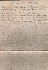 1846-1866 Carpenter Family Correspondence from Missouri and Kentucky. Including Domestic Life in Missouri during the Civil War