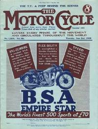 Motor Cycling [Magazine] Covers Every Phase of the Movement and Circulates Throughout the World. The T.T: A Peep Behind the Scenes Volume 60. No. 1,834. June 2nd, 1938
