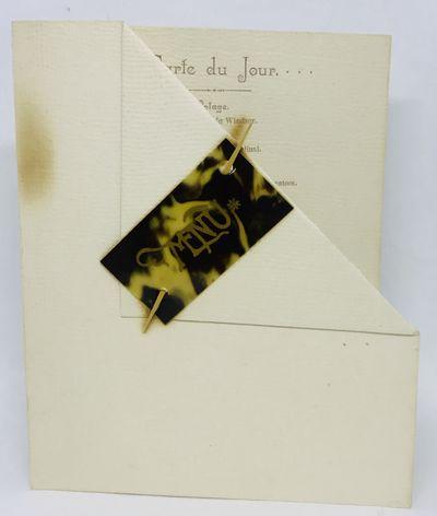 Gloucester, Massachusetts, 1887. Cards. Cream card stock. Very good. 15 x 12.5 cm. Decorative foldin...