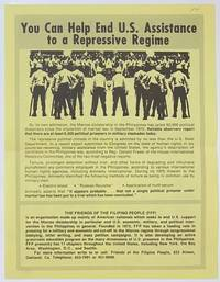 image of You can help end US assistance to a repressive regime [handbill]