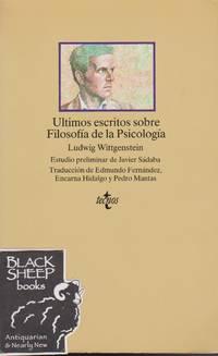 Ultimos escritos sobre Filosofia de La Psicologia (Clasicos) (Spanish Edition)