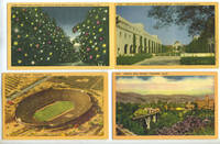 Four Linen Postcards with Scenes from Pasadena, California by [California; postcard] - 1960 - from Antipodean Books, Maps & Prints (SKU: 17181)