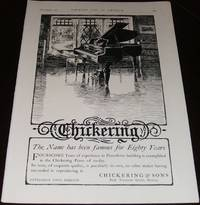 image of Original 1903 Large Full Page Illustrated for Chickering & Sons Pianos