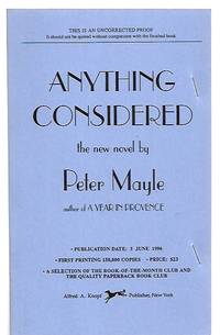image of ANYTHING CONSIDERED [A NOVEL]