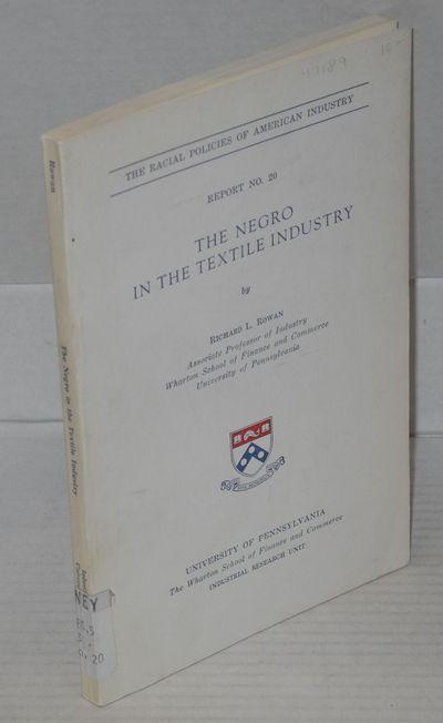 Philadelphia: University of Pennsylvania Press, 1970. Paperback. xvi, 172p, wraps, ex-library otherw...