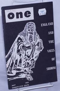 image of One: the homosexual magazine vol. 2, #5, May 1954: England and the Vices of Sodom