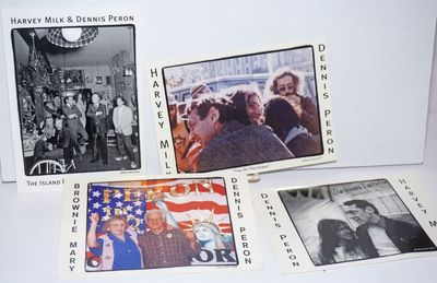 San Francisco: Self-published by Peron, 2012. Four 4x6 inch postcards, two b&w and two in color, iss...