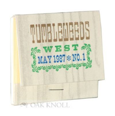 (San Diego: Ash Ranch Press, 1987. stiff paper wrappers in matchbox form, title stamped on front wra...