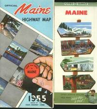 image of (2) Maps: Official Maine Highway Map 1955 (and) Cities Service Maine.