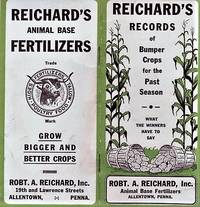 image of REICHARD'S RECORDS OF BUMPER CROPS FOR THE PAST SEASON:  What the Winners Have to Say.