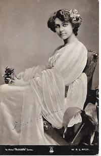 Edwardian Era Stage Actress, Dorah Barton on 1910s Milton Photolette Postcard