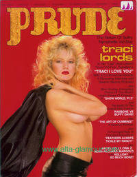 image of PRUDE; THE RETURN OF SULTRY NYMPHETTE VID STAR TRACI LORDS