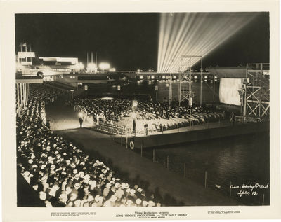Los Angeles: United Artists, 1934. Vintage press photograph of the film's premiere at the Chicago Wo...