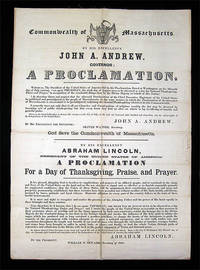Proclamation of Thanksgiving by  Abraham LINCOLN - Hardcover - FIRST EDITION - 1863 - from B & L Rootenberg Rare Books & Manuscripts and Biblio.com
