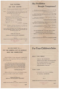 WOMEN'S CAMPAIGN TO REPEAL PROHIBITION - PUT THE CRIMINAL OUT OF BUSINESS . . . REPEAL . . . THE EIGHTEENTH AMENDMENT Four different broadsides published by the Women's Organization for Prohibition Reform