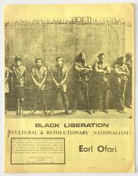 image of Black Liberation: cultural and revolutionary nationalism