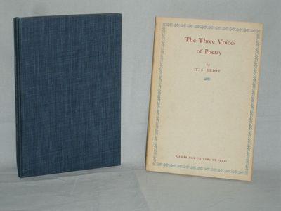 New York: Cambridge University Press, 1954. First American Edition. Original Cloth. Fine/Fine. 12mo ...
