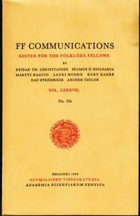 FF Communications Edited for the folklore fellows Vol- LXXXVII No. 206
