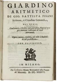 MERCANTILE MATHEMATICS IN MILAN  Giardino aritmetico.