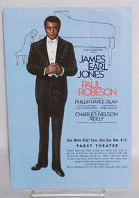 James Earl Jones as Paul Robeson; the new play by Phillip Hayes Dean
