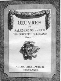 Oeuvres de Salomon Gessner  Traduits de l'Allemand
