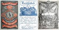 Sammelband mit 45 Einwickelpapieren für Zigarren bzw. Tabackpackungen, zum überwiegenden Teil aus der Produktion der Berliner Fabrik Doussin.