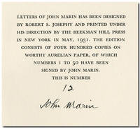 LETTERS OF JOHN MARIN