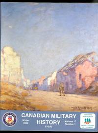image of CANADIAN MILITARY HISTORY.  WINTER  2008.  VOLUME 17, NUMBER 1.