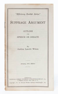 Suffrage Argument Outline for Speech or Debate