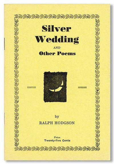 Minerva, OH: by the Author, 1941. First Edition. 12mo. Bright yellow wrappers; 20pp. A fine, unfaded...