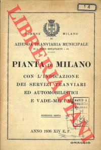 Pianta di Milano con l\'indicazione dei Servizi Tranviari ed Automobilistici e Vade-Mecum.