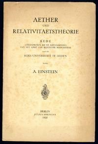 Aether und Relativitätstheorie