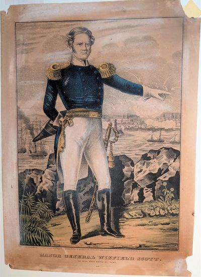 New York: MAJOR GENERAL WINFRIELD SCOTT. At Vera Cruz March 25, 1847, 1847. Folio. 355 x 250 mm., ...