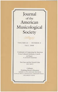 Journal of the American Musicological Society (Volume 61, Number 3, Fall 2008)
