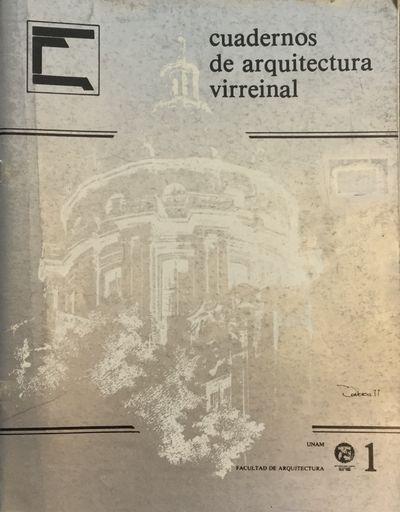 México, D.F: UNAM, Facultad de Arquitectura, 1985-1989. 28 cm. v.p b/w plates, meas. draws., plans,...