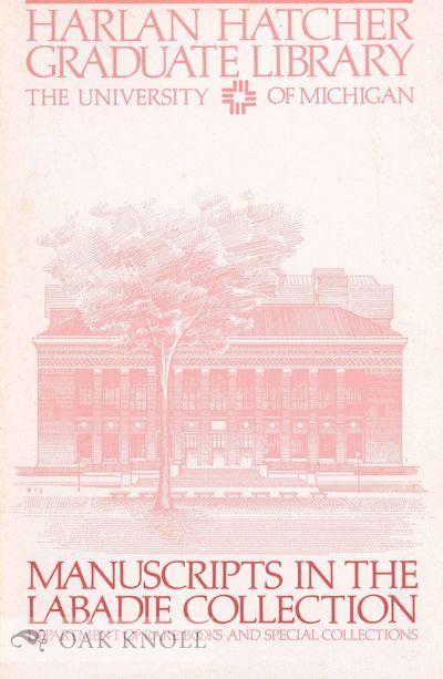 (Ann Arbor, MI): Harlan Hatcher Graduate Library, The University of Michigan, 1987. stiff paper wrap...