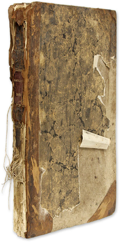 1823. 1823 Docket Book from Plymouth, Massachusetts . . . , pp. Includes 3 thumb-tabbed indexes. Fol...