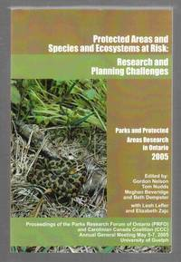 Protected Areas and And Species and Ecosystems At Risk: Research and  Planning Challenges