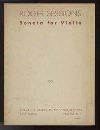Sonata for Violin. With composer's autograph inscription