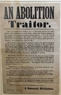 An  Abolition Traitor.