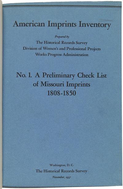 , 1942. Twenty-three volumes. Folio. Uniformly bound in green buckram, spines lettered in gilt; some...