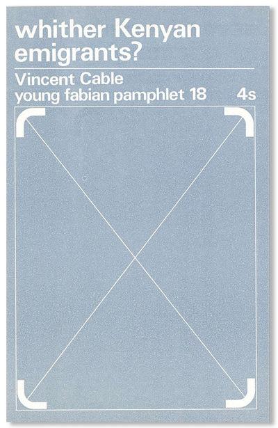 London: Fabian Society, 1969. First Edition. Octavo (21.75cm.); original pale blue-grey staplebound ...