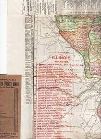 THE RAND-McNALLY VEST POCKET MAP OF ILLINOIS:; Showing all Counties, Cities, Towns, Railways, Lakes, Rivers, etc.  Population is given according to the latest official census.  [cover title]