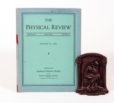 Lancaster and New York: American Physical Society. 1st Edition. Soft cover. Very Good. FIRST EDITION...