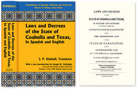 Laws and Decrees of the State of Coahuila and Texas in Spanish and..