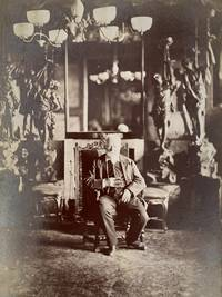 Photograph portrait of Victor Hugo in Hauteville-house